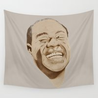 trumpet Wall Tapestries featuring Satchmo Jazz Trumpet Masters by FSDisseny