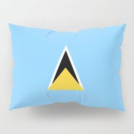 Saint Lucia flag emblem Pillow Sham