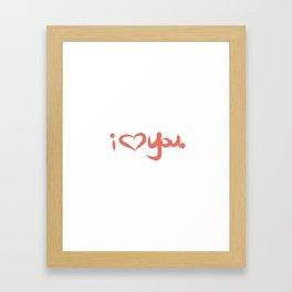 I Love You in Peach Framed Art Print