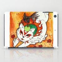 okami iPad Cases featuring Amaterasu from Okami 03 by Jazmine Phillips