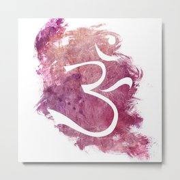 watercolor om 01 Metal Print