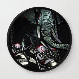 SNEAKER ELEPHANT Wall Clock