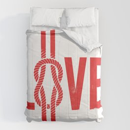 Love Knot (Red) Comforters