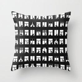 Feline Towers Throw Pillow