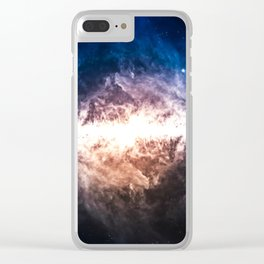 Star Field in Deep Space Clear iPhone Case