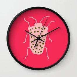 Arthropods hot pink Wall Clock