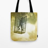 cage Tote Bags featuring Cage by Azure Cricket