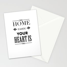 Your Heart is - Typography Stationery Cards