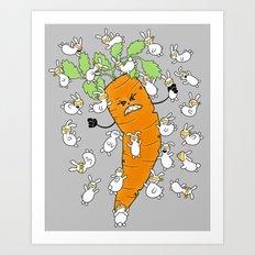 Bunny Brawl Art Print