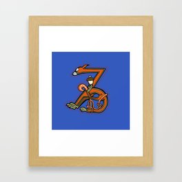 Medieval Squirrel Letter Z Framed Art Print