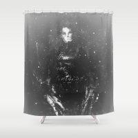 edward scissorhands Shower Curtains featuring Edward Scissorhands by Carlo Spaziani