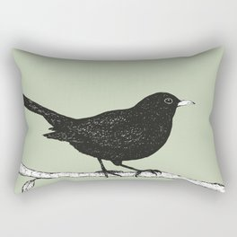 Blackbird pen drawing Rectangular Pillow
