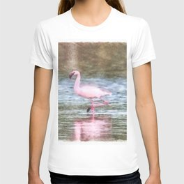 Lesser Flamingo Watercolor T-shirt