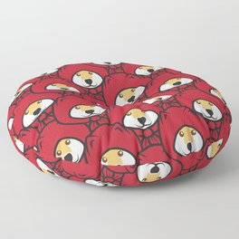 Red Riding Shibe Floor Pillow