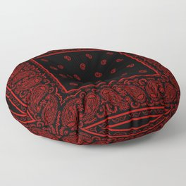 Classic Black and Red Bandana Floor Pillow