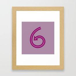 Number 6 - 36 Days of Type  Framed Art Print