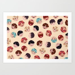 BTS Pattern Art Print