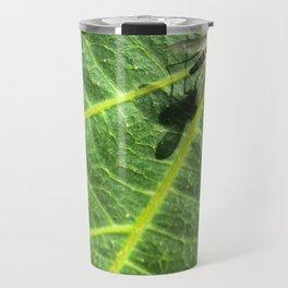 Fly on a Leaf Travel Mug