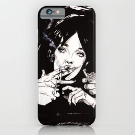 Chabrol: The Blue Panther iPhone Case