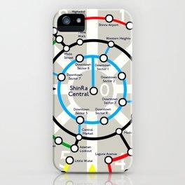 Final Fantasy VII - Midgar Mass Transit System Map iPhone Case
