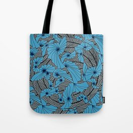 Mandala Blue Grey Abstract Tote Bag