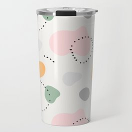 Contemporary modern ethnic abstract art background. Colorful circles and stamp spots with dots, Mili Travel Mug