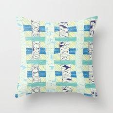 Doodled Checks Throw Pillow