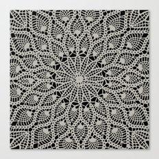 Delicate - Silver Canvas Print