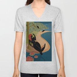 Kuan Yin Beneath a Willow Unisex V-Neck