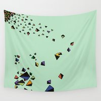 triangles Wall Tapestries featuring Triangles by Jarvis Glasses