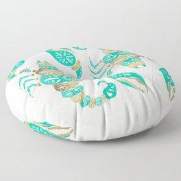 Scorpion – Turquoise & Gold Floor Pillow