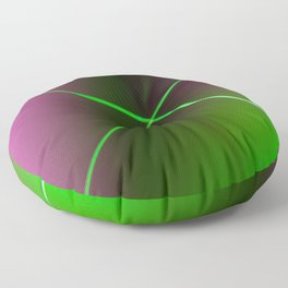 Minimal Landscape with Neon Light Floor Pillow
