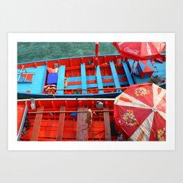 Taxi Boats Art Print