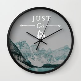 Just Go - Moraine Lake Wall Clock