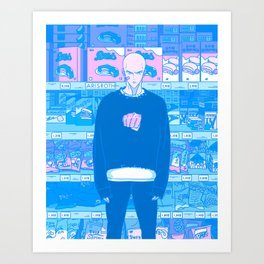 Tokyo BF w/ Heroic Punch Master - Late Night Munchies in Korean Grocery Store Art Print