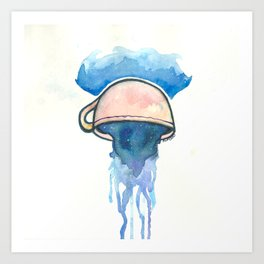 Ocean, tea, space Art Print