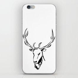 Ciervo negro iPhone Skin