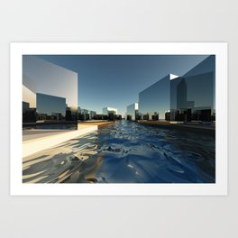 Q-City Two Art Print