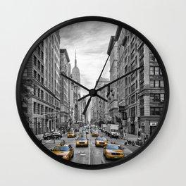 5th Avenue NYC Traffic Wall Clock