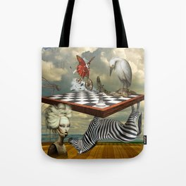 Zebra Upside Down Tote Bag