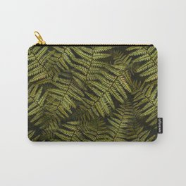 Among the ferns in the forest (military green) Carry-All Pouch