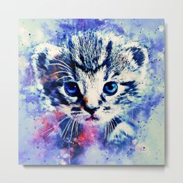 baby cat wscw Metal Print