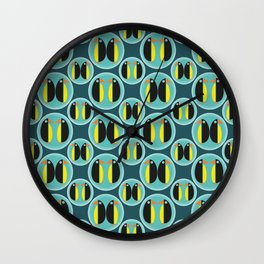 Penguin Bubbles Wall Clock