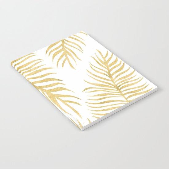 Fern Pattern Gold Notebook