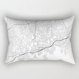 Minimal City Maps - Map Of Stamford, Connecticut, United States Rectangular Pillow