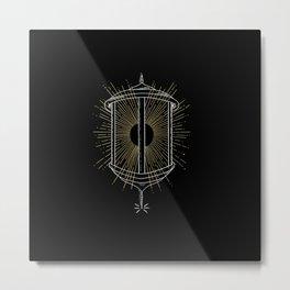 Hermit Lantern Metal Print