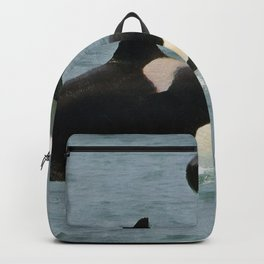 Playful Orcas Backpack