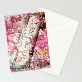 Broadway sign New York City Stationery Cards