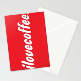 I love [illy] coffee Stationery Cards