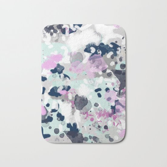 Elsie - modern abstract painting trendy home dorm college decor canvas art Bath Mat